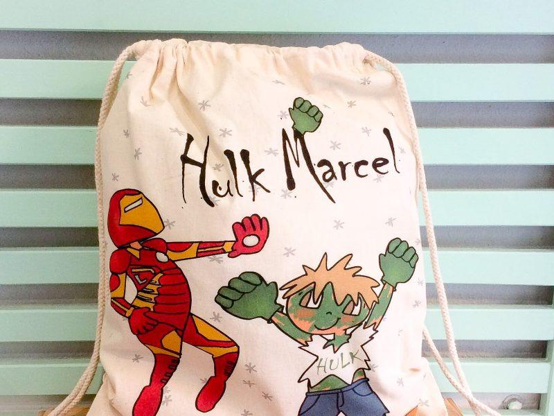 Mochila personalizada superhéroe, Hulk Marcel